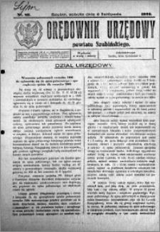 Orędownik Urzędowy powiatu Szubińskiego 1926.11.06 R.7 nr 89