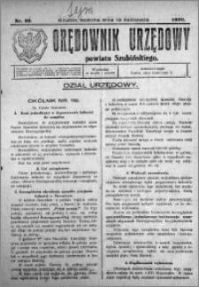 Orędownik Urzędowy powiatu Szubińskiego 1926.11.13 R.7 nr 91