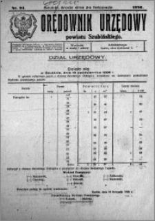 Orędownik Urzędowy powiatu Szubińskiego 1926.11.24 R.7 nr 94