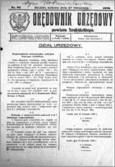 Orędownik Urzędowy powiatu Szubińskiego 1926.11.27 R.7 nr 95
