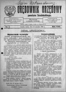 Orędownik Urzędowy powiatu Szubińskiego 1927.01.19 R.8 nr 5