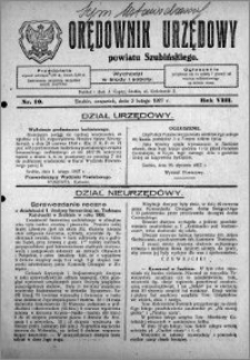 Orędownik Urzędowy powiatu Szubińskiego 1927.02.03 R.8 nr 10