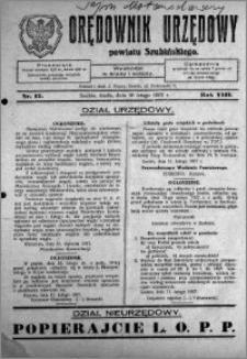 Orędownik Urzędowy powiatu Szubińskiego 1927.02.16 R.8 nr 13
