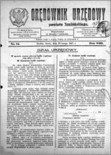 Orędownik Urzędowy powiatu Szubińskiego 1927.02.23 R.8 nr 15