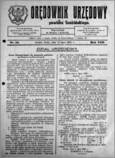 Orędownik Urzędowy powiatu Szubińskiego 1927.07.13 R.8 nr 55