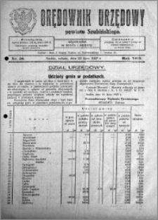 Orędownik Urzędowy powiatu Szubińskiego 1927.07.23 R.8 nr 58
