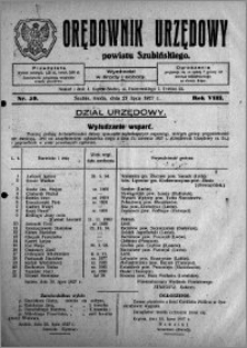 Orędownik Urzędowy powiatu Szubińskiego 1927.07.27 R.8 nr 59