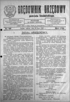 Orędownik Urzędowy powiatu Szubińskiego 1927.07.30 R.8 nr 60