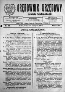 Orędownik Urzędowy powiatu Szubińskiego 1927.08.03 R.8 nr 61