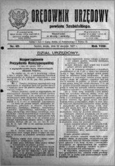 Orędownik Urzędowy powiatu Szubińskiego 1927.08.24 R.8 nr 67