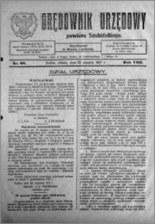 Orędownik Urzędowy powiatu Szubińskiego 1927.08.27 R.8 nr 68