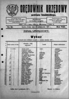 Orędownik Urzędowy powiatu Szubińskiego 1927.10.12 R.8 nr 81