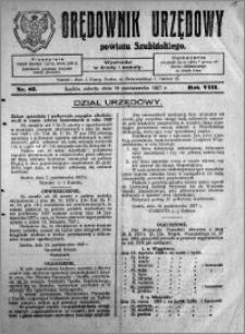 Orędownik Urzędowy powiatu Szubińskiego 1927.10.15 R.8 nr 82
