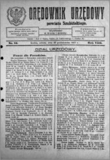 Orędownik Urzędowy powiatu Szubińskiego 1927.10.22 R.8 nr 84
