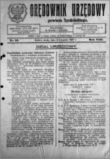 Orędownik Urzędowy powiatu Szubińskiego 1927.11.02 R.8 nr 87