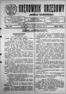 Orędownik Urzędowy powiatu Szubińskiego 1927.11.05 R.8 nr 88