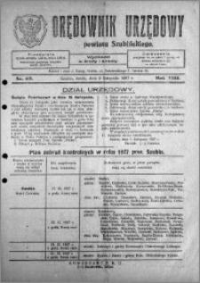 Orędownik Urzędowy powiatu Szubińskiego 1927.11.09 R.8 nr 89