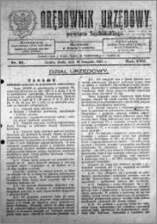 Orędownik Urzędowy powiatu Szubińskiego 1927.11.16 R.8 nr 91