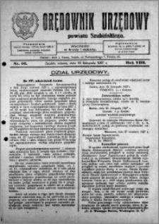 Orędownik Urzędowy powiatu Szubińskiego 1927.11.19 R.8 nr 92