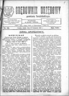 Orędownik Urzędowy powiatu Szubińskiego 1927.11.23 R.8 nr 93