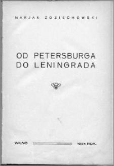 Od Petersburga do Leningrada