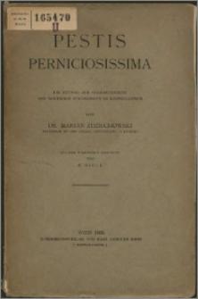 Pestis perniciosissima : ein Beitrag zur Charakteristik der modernen Strömungen im Katholizismus