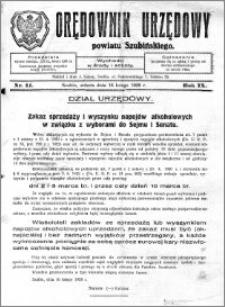 Orędownik Urzędowy powiatu Szubińskiego 1928.02.18 R.9 nr 14