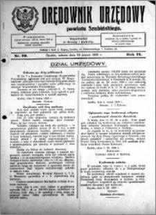 Orędownik Urzędowy powiatu Szubińskiego 1928.03.10 R.9 nr 20