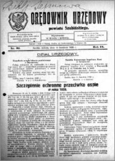 Orędownik Urzędowy powiatu Szubińskiego 1928.04.15 R.9 nr 30