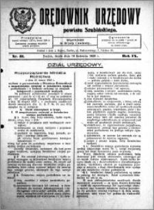 Orędownik Urzędowy powiatu Szubińskiego 1928.04.18 R.9 nr 31
