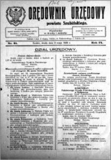 Orędownik Urzędowy powiatu Szubińskiego 1928.05.02 R.9 nr 35