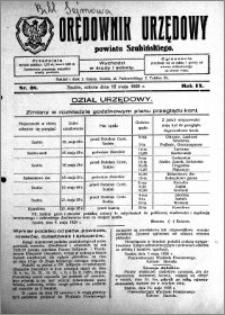 Orędownik Urzędowy powiatu Szubińskiego 1928.05.12 R.9 nr 38