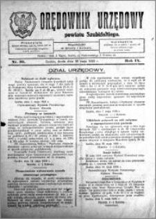 Orędownik Urzędowy powiatu Szubińskiego 1928.05.16 R.9 nr 39