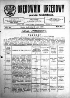 Orędownik Urzędowy powiatu Szubińskiego 1928.05.23 R.9 nr 41
