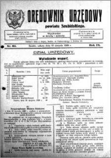 Orędownik Urzędowy powiatu Szubińskiego 1928.08.18 R.9 nr 65