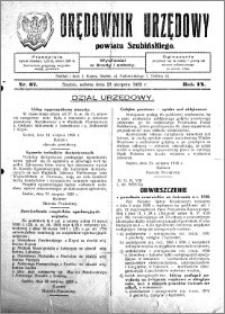 Orędownik Urzędowy powiatu Szubińskiego 1928.08.25 R.9 nr 67