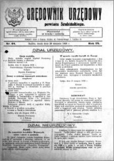 Orędownik Urzędowy powiatu Szubińskiego 1928.08.29 R.9 nr 68
