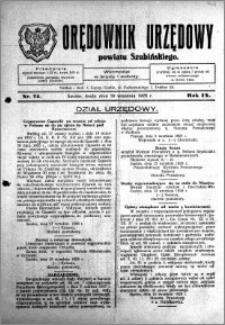 Orędownik Urzędowy powiatu Szubińskiego 1928.09.19 R.9 nr 74