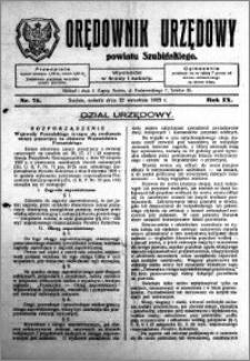 Orędownik Urzędowy powiatu Szubińskiego 1928.09.22 R.9 nr 75