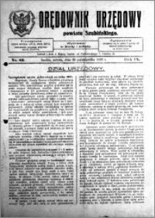 Orędownik Urzędowy powiatu Szubińskiego 1928.10.20 R.9 nr 83