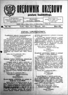 Orędownik Urzędowy powiatu Szubińskiego 1928.11.03 R.9 nr 87