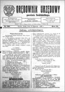 Orędownik Urzędowy powiatu Szubińskiego 1928.11.14 R.9 nr 90