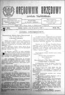 Orędownik Urzędowy powiatu Szubińskiego 1928.12.22 R.9 nr 101