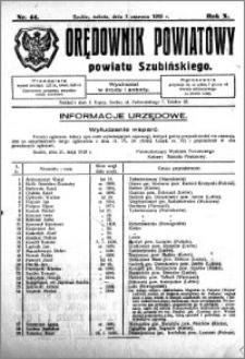 Orędownik Powiatowy powiatu Szubińskiego 1929.06.01 R.10 nr 44