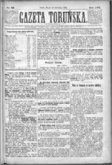 Gazeta Toruńska 1882, R. 16 nr 85
