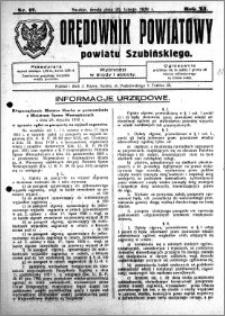 Orędownik Powiatowy powiatu Szubińskiego 1930.02.26 R.11 nr 17