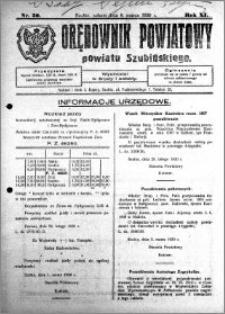 Orędownik Powiatowy powiatu Szubińskiego 1930.03.08 R.11 nr 20