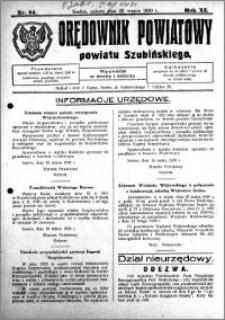 Orędownik Powiatowy powiatu Szubińskiego 1930.03.22 R.11 nr 24