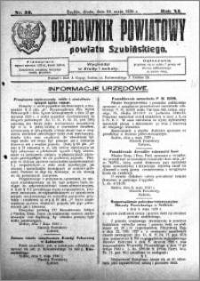 Orędownik Powiatowy powiatu Szubińskiego 1930.05.14 R.11 nr 39
