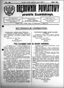 Orędownik Powiatowy powiatu Szubińskiego 1930.05.28 R.11 nr 43